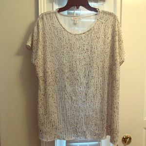 Lovely Coldwater Creek Sequined Top 1X